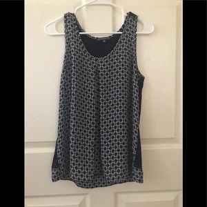 Adrianna Papell Blue Tank Top Size M